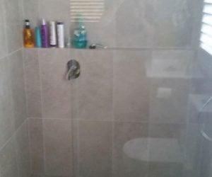 Bathroom renovation - new shower and tile newcastle