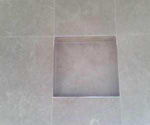 Custom shower with soap dish - bathroom renovation newcastle