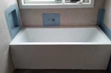 installation of bathtub