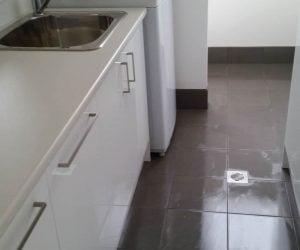 Laundry room tiling - laundry renovations newcastle