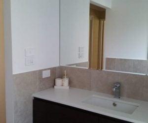 Bathroom Basin with mirror - bathroom renovations newcastle
